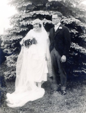 Rose and Leo Karl Sr. on their wedding day. Photo courtesy of the Karl family