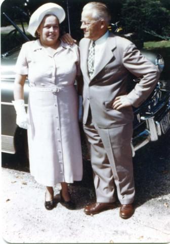 Rose Karl (L) in 1951. Photo courtesy of the Karl family