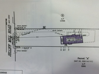 Site plan for the proposed new home at 335 Jelliff Mill Road.