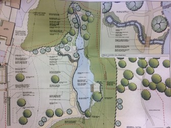 A closer look at the plan for Waveny Pond. Courtesy of Keith Simpson Associates
