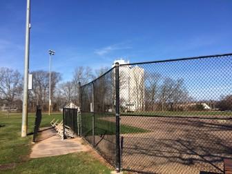 Backstop of Orchard Field at Waveny on Dec. 20, 2015. Credit: Michael Dinan