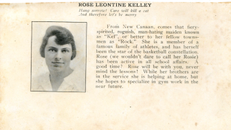 Rose Kelley Karl's high school yearbook entry. Photo courtesy of the Karl family