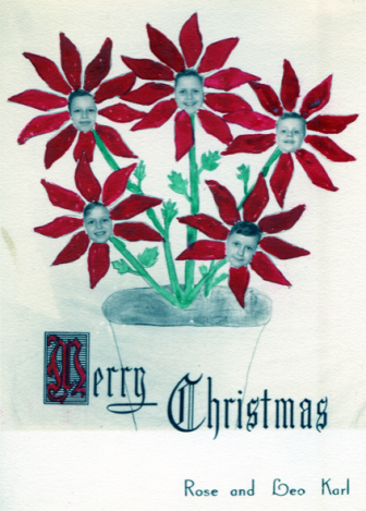 A Karl family Christmas card. Photo courtesy of the Karl family