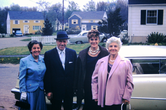 Lydia, brother Albert, sister Vivian, and Filomena - 1957. Photo courtesy of the Franco family