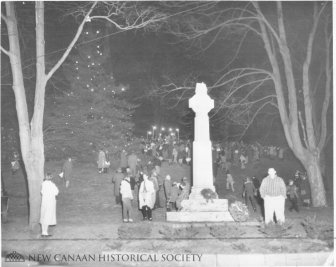 Caroling at God's Acre. December 30, 1958. Photo courtesy of the New Canaan Historical Society