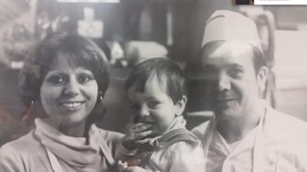 Nancy, young Lorenzo, and Joe Colella. Contributed