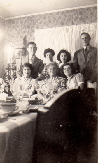 Family members - bottom ( L to R) Angie, Filomena, Vivian; top John Moker, Ann Franco Moker, Lydia, Bill. Photo courtesy of the Franco family