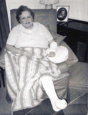 Rose Karl broke her arm and leg—family legend has it she suffered the injuries playing basketball with relatives. Photo courtesy of the Karl family