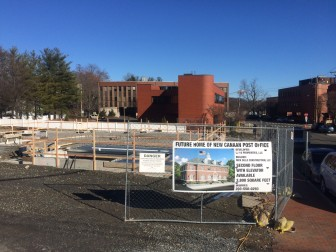 The New Canaan Post Office site, under construction, on Jan. 10, 2016. Credit: Michael Dinan