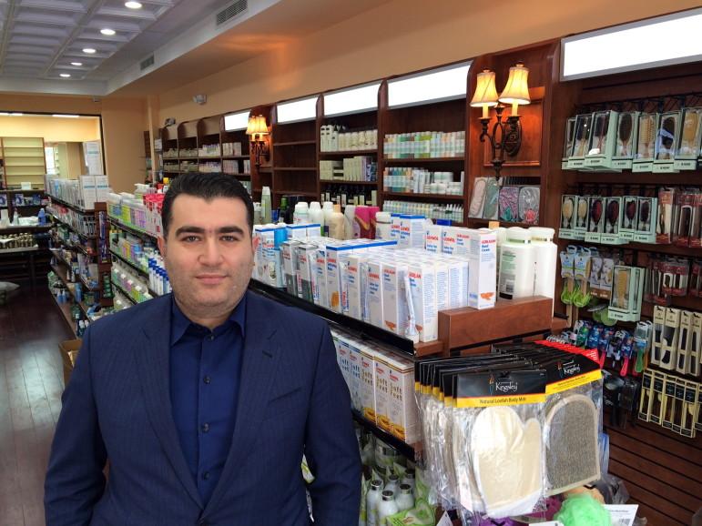 Greenwich Pharmacy Dmitri Daniarov inside the new shop at 112 Main St. It opens Monday. Credit: Michael Dinan