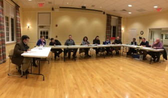 The Park & Recreation Commission at the group's Feb. 10, 2016 meeting, held in the Douglass Room at Lapham Community Center. Credit: Michael Dinan