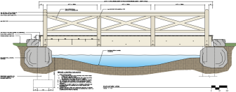 A close-up of the proposed footbridge at Mead Park. An existing footbridge in need of repair would match it. Courtesy of Keith Simpson Associates