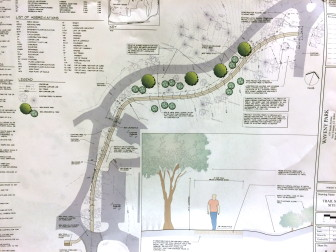 A look at part of Keith Simpson's plan for the new trail, on behalf of the Waveny Park Conservancy.
