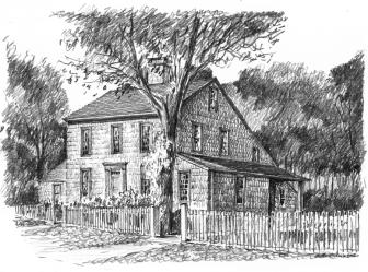 Sketch of 8 Ferris Hill Road, present-day, by Mark Markiewicz