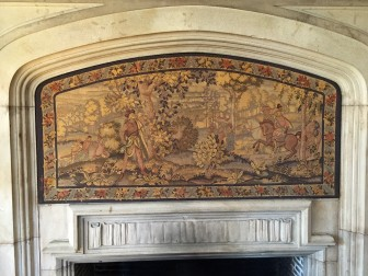 The Herter Looms tapestry in the Waveny House dining room as been returned to its prominent place after a restoration. Credit: Michael Dinan