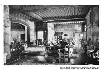 The Great Hall just inside Waveny House, ca. July-December 1917.