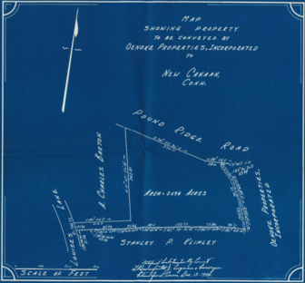 An early map (from 1954) shows Louise's Lane laid out.