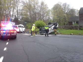 Scene of an accident at Silvermine Road and Carter Street on May 7, 2016. Photo published with permission from its owner