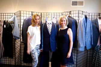 Keleigh McAuliffe and Melissa Engel at their J. Hilburn showroom on Elm Street.
