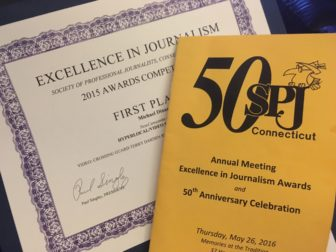NewCanaanite.com earned eight 1st place Excellence In Journalism awards from the CT Society of Professional Journalists on May 26, 2016.