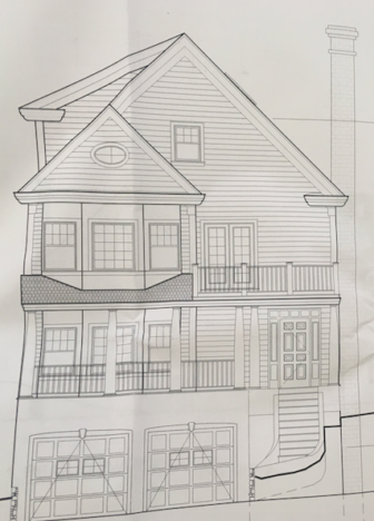 New construction planned for gower road charles street for 2700 square foot house cost