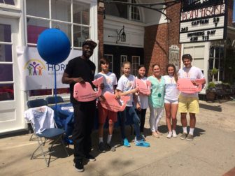 Raising money and awareness on Elm Street during last weeks' Horizons National Giving Day. Contributed