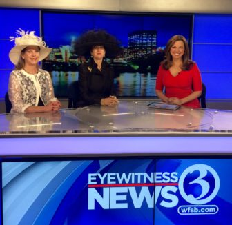 Sara Tucker, Executive Director New Canaan Mounted Troop, Diane Roth, Owner of L'Armoire and Kim Lucey, Reporter Eyewitness News. Contributed