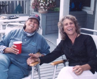 Judy Dunn (L) with Wendy Dixon Fog (R). Contributed