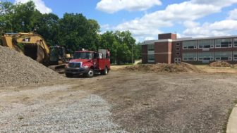 The site of the Saxe Middle School construction project on June 29, 2016. Credit: Matt Walsh