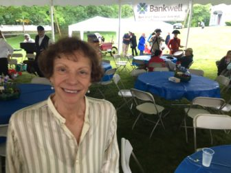 Executive Director Janet Lindstrom at the New Canaan Historical Society's Ice Cream Social, on June 5, 2016. Credit: Michael Dinan