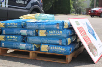 Pet Pantry Warehouse donates an entire pallet of Blue Buffalo dog food every time Adopt A Dog runs low. They feed the entire population of shelter dogs through their Feed the Need program. June 27, 2016 Credit: Sadie Smith