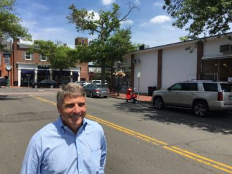 Phil Williams, owner of New Canaan Music, is overseeing the live music that's coming to the Pop Up Park on three Thursday nights in August 2016. Credit: Michael Dinan
