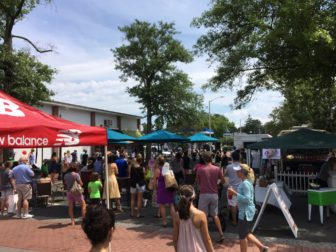 The Pop Up Park was set up during the 2016 New Canaan Sidewalk Sale. Credit: Michael Dinan