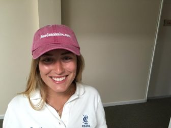 NewCanaanite.com hats will be sold at the stand this weekend. Credit: Michael Dinan.