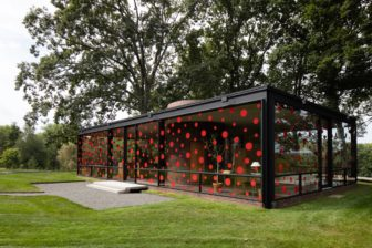 The Dots Obsession installation at Philip Johnson Glass House. Photo by Matthew Placek