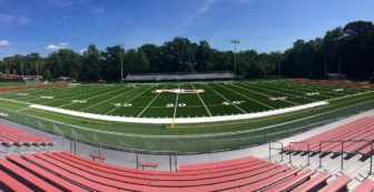 The newly-installed turf at Dunning Field. Credit: Terry Dinan