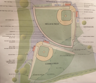 Conceptual rendering of future Mellick and Gamble Fields at Mead Park. Specs by Blades & Goven and McChord Engineering, courtesy of New Canaan Baseball