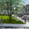 AFTER: The same view of the newly modified proposed Merritt Village complex in New Canaan. Courtesy of SLAM Collaborative