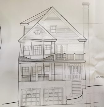 This 2,214-square-foot house is planned for 7 Charles Place in New Canaan.
