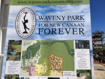 A poster that spotlights some of the important work of the Waveny Park Conservancy