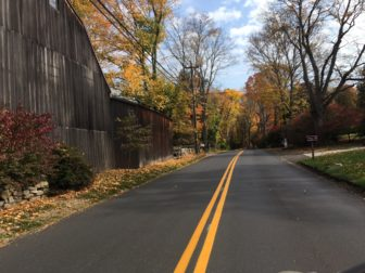 Traveling south on Silvermine Road in New Canaan, October 2016. Credit: Michael Dinan