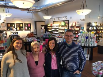 The team at Milestones on Forest Street, L-R: Jenny Ceci, Phyllis DeNicola, Elisabeth Mulhern and Alan Kun. The store will close Dec. 31 after 12 years. Credit: Michael Dinan