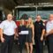 L-R: Chief Jack Hennessey, Kate Cutshall and Jamie Buschmann of the New Canaan Newcomers Club, Firefighter Jim Pickering and Fire Marshal Fred Baker. The New Canaan Fire Department received a grant from the Newcomers Club of New Canaan. The money generated for the grant was from the 2015 Holiday House Tour. The grant money will be used for the New Canaan Fire Departments Smoke and Carbon Monoxide Detector Awareness Campaign. The New Canaan Fire Department purchases detectors and provides the detectors to the New Canaan residents at no cost. To date the department has given out over fifteen hundred detectors (1500). The New Canaan Fire Department is very thankful to the Newcomers Club of New Canaan for their very generous donation.