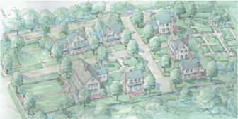 Rendering of the proposed redevelopment of the Roger Sherman Inn site.