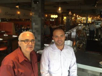 Gino Racanelli and Dan Camporeale of Spiga restaurant on Main Street in New Canaan. Credit: Michael Dinan