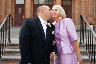 Michael Patrona and his mom, Eileen Hynes, on his wedding day in 2009. Contributed
