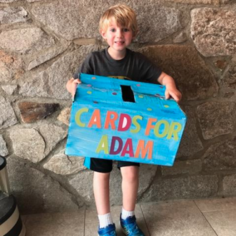 Gavin Mahoney cards for Adam near drowning 08-08-17