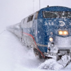 Metro-North train winter